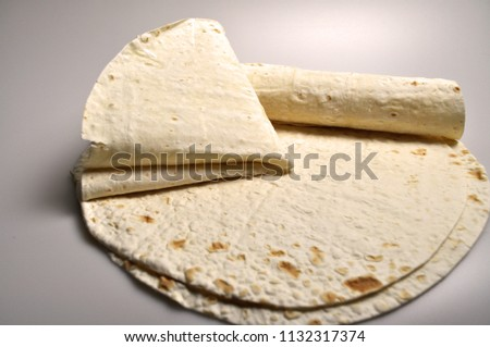 round light ready-made pita breads - national cuisine, Georgian cuisine, Persian cuisine #1132317374