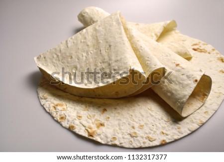 round light ready-made pita breads - national cuisine, Georgian cuisine, Persian cuisine #1132317377