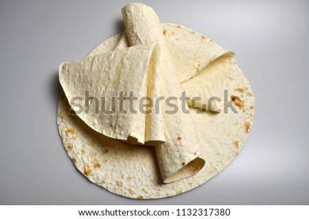 round light ready-made pita breads - national cuisine, Georgian cuisine, Persian cuisine #1132317380