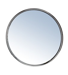 Round mirror - isolated on white background