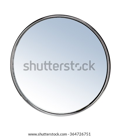 Round mirror - isolated on white background #364726751