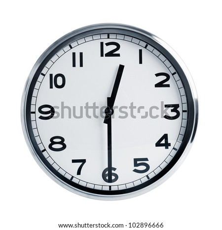 Round office hours on a white background Foto d'archivio ©
