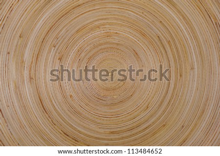 round pattern of wooden bowl