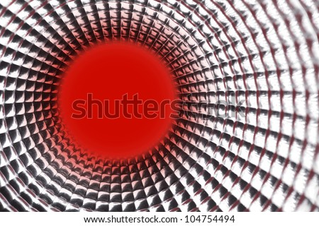 round red point background in silver reflection tunel