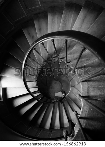 Round stairs in castle
