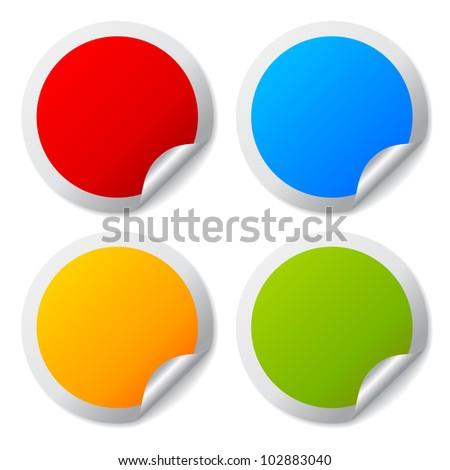 Round stickers set #102883040