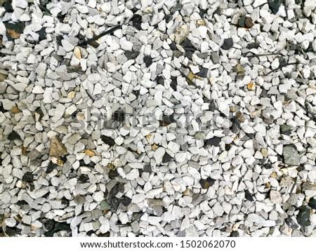 Round stone floor background, stone floor, stone for in garden or park.