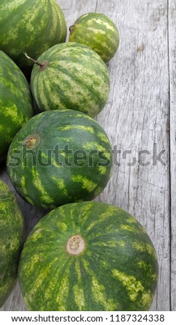 round striped watermelon #1187324338