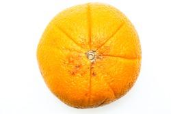 Round topview orange piechart looklike isolated on white background.