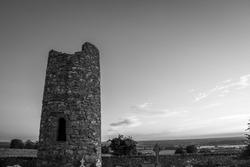 Round Tower at Oughterard Monastic Site, Kildare, Ireland