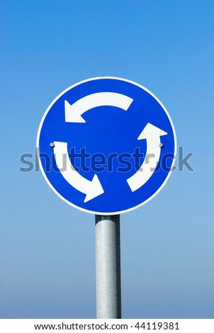 round turn only one way sign