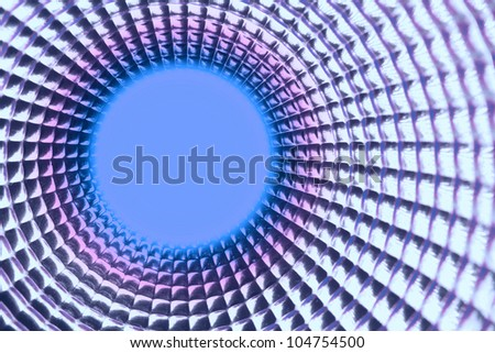 round violet point background in silver reflection tunel