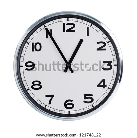 Round wall clock is a quarter hour
