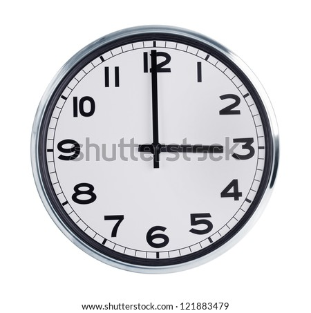 Round wall clock is exactly three hours