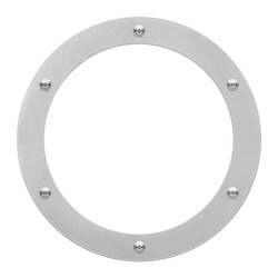round window or porthole with white field