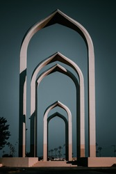 Roundabout of tabuk, saudi arabia