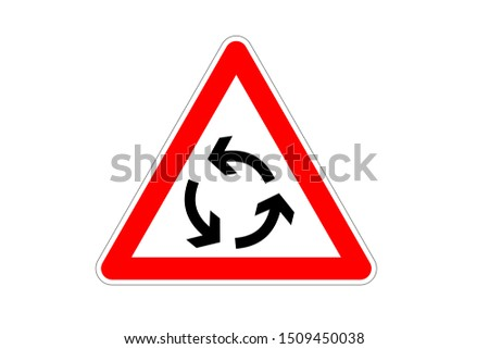 Roundabout Traffic Sign Sign Road Sign Roadsign