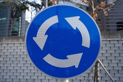 roundabouts revolving intersection sign korea