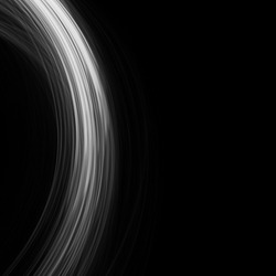 rounded black and white light lines on a black background