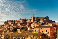 Roussillon village. One of the most impressive villages in France