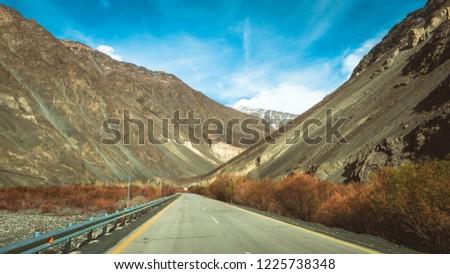 Route between tourist in Pakistan #1225738348