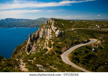 Route des Cretes, France - stock photo