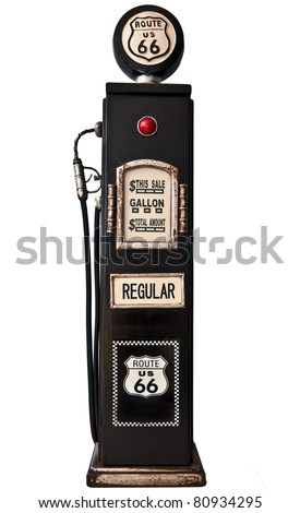Route 66 fuel pump - stock photo