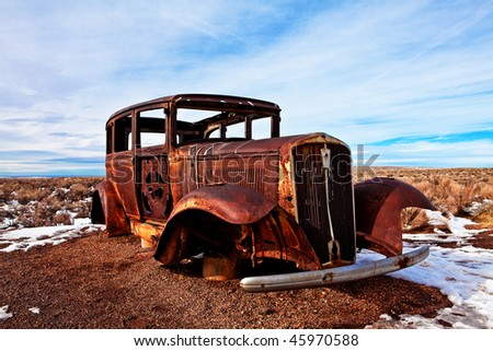 Route 66 Old Car 004