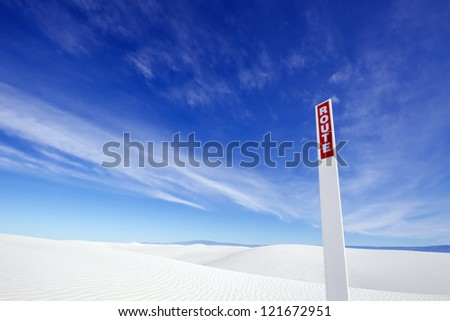 Route Sign, White Sands National Monument