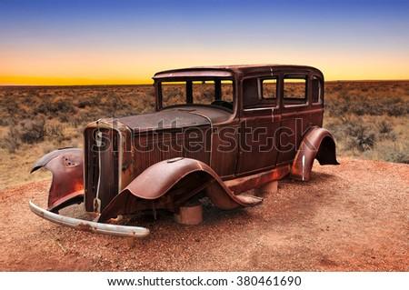 route 66 vintage car relic...