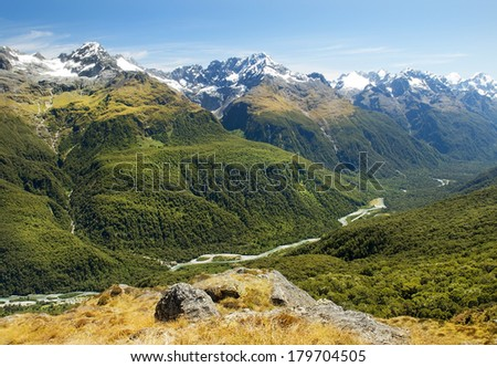 routeburn track, fabulous scenery in New Zealand