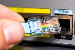 Router console cable for accessing cmmand line interface