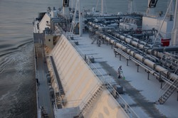 Routine seafarer's weekday at LNG carrier