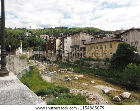Rovereto, Italy. The Leno torrent.