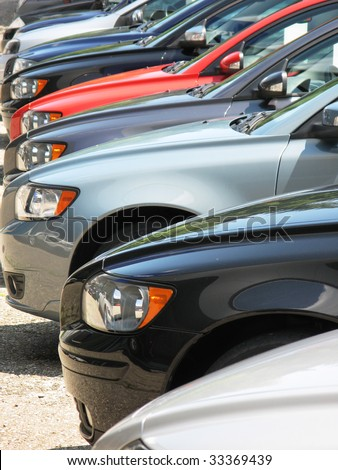 Row of cars