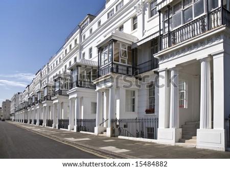 row of English Regency houses