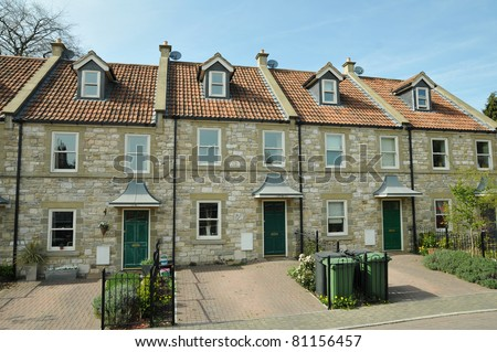 Row of English Town Houses