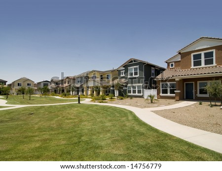 Row of houses - stock photo