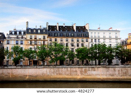 pics of houses in france. stock photo : Row of houses on