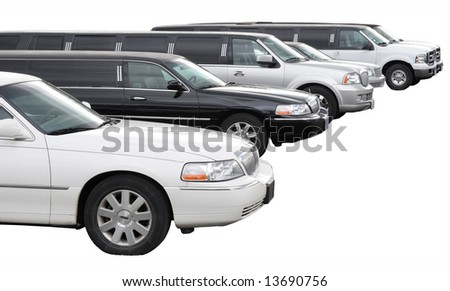 Row of limousines - stock photo