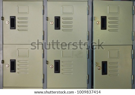 Row Of Lockers Two Is Open