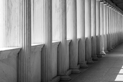 Row of Marble columns in Athens, Greece
