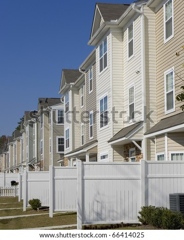Row of new affordable townhouses