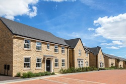Row of new houses, english street