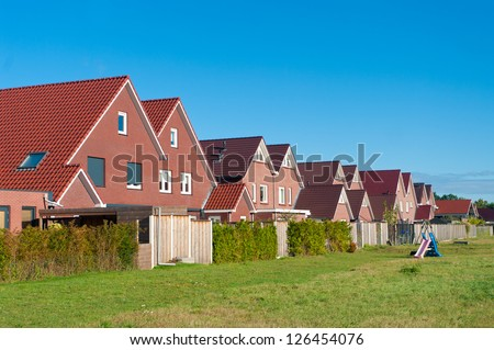 row of newly build houses in the Netherlands