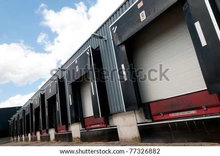row of old loading docks