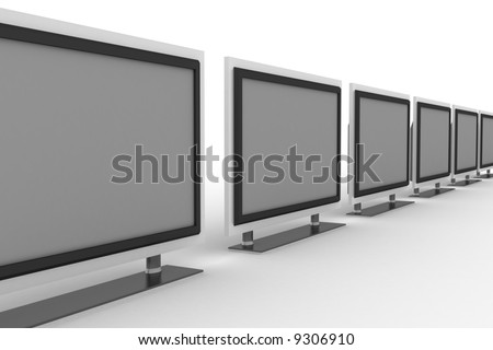 row of plasma tvs