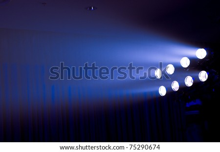 row of stage lights