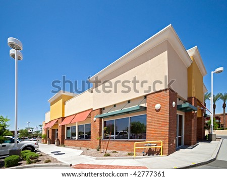 Row of stores. #42777361