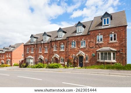 Row of terraced houses #262301444